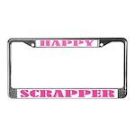 Happy Scrapper License Plate Frame
