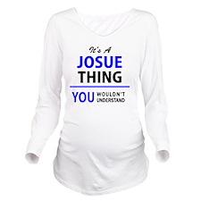 Cute Josue Long Sleeve Maternity T-Shirt