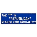 Republican Morality Bumper Sticker