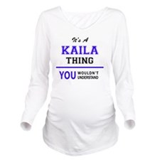Cute Kaila Long Sleeve Maternity T-Shirt