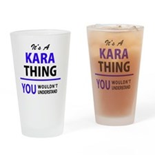 Cute Kara Drinking Glass