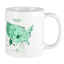Multiple Race County Map Mug