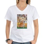 Spring / Corgi Women's V-Neck T-Shirt