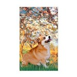 Spring / Corgi Sticker (Rectangle)