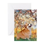 Spring / Corgi Greeting Cards (Pk of 10)
