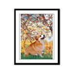 Spring / Corgi Framed Panel Print
