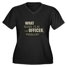 What Seems To Be The Officer, Women's Plus Size V-