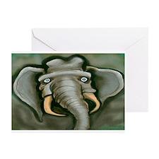 3-Elephant11x17 Greeting Cards