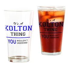 Cute Kolton Drinking Glass