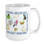 """Animal welfare slogans"" Large Mug"