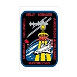 STS 118 Endeavour Original Crew Sticker (Rectangul