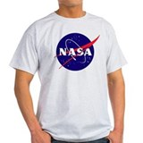 NASA logo STS118 Patch Ash Grey T-Shirt