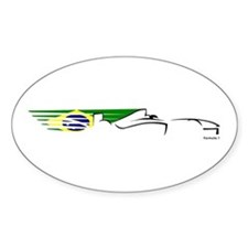 Formula 1 Brazil Oval Decal
