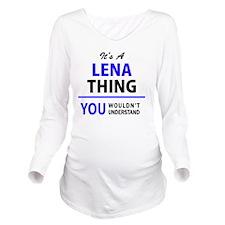 Cute Lena Long Sleeve Maternity T-Shirt