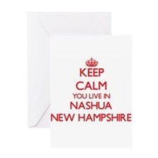 Keep calm you live in Nashua New Ha Greeting Cards