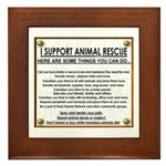 """I support animal rescue"" Framed Tile"