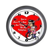 Tricycle Valentine Wall Clock