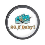 26.2 Baby Marathon Blue Running Shoes Wall Clock