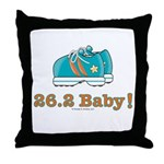 26.2 Baby Marathon Blue Running Shoes Throw Pillow