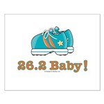 26.2 Baby Marathon Blue Running Shoes Poster