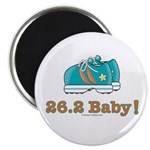 26.2 Baby Marathon Pink Running Shoes Magnet