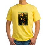 Mona Lisa/Rottweiler Yellow T-Shirt