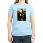 Mona Lisa/Rottweiler Women's Light T-Shirt