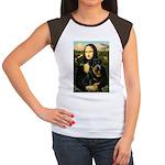 Mona Lisa/Rottweiler Women's Cap Sleeve T-Shirt