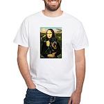 Mona Lisa/Rottweiler White T-Shirt