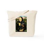 Mona Lisa/Rottweiler Tote Bag