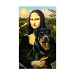 Mona Lisa/Rottweiler Sticker (Rectangle)