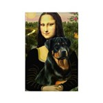Mona Lisa/Rottweiler Rectangle Magnet (10 pack)