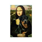 Mona Lisa/Rottweiler Rectangle Magnet