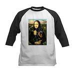 Mona Lisa/Rottweiler Kids Baseball Jersey