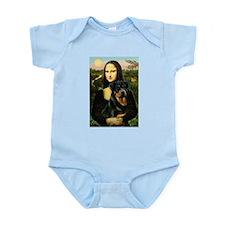 Mona Lisa/Rottweiler Infant Bodysuit