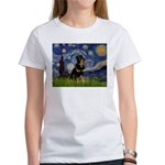 Starry Night Rottweiler Women's T-Shirt