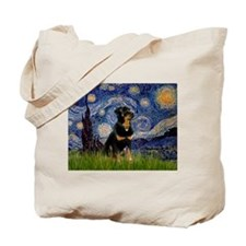 Starry Night Rottweiler Tote Bag