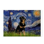 Starry Night Rottweiler Postcards (Package of 8)
