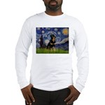Starry Night Rottweiler Long Sleeve T-Shirt