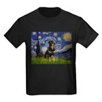 Starry Night Rottweiler Kids Dark T-Shirt