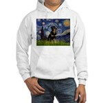 Starry Night Rottweiler Hooded Sweatshirt