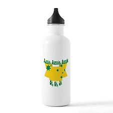Aussie flag ribbon Sports Water Bottle