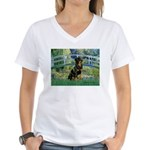 Bridge / Rottie Women's V-Neck T-Shirt