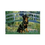 Bridge / Rottie Rectangle Magnet (10 pack)