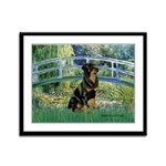 Bridge / Rottie Framed Panel Print