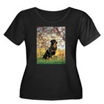 Spring / Rottweiler Women's Plus Size Scoop Neck D