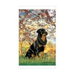 Spring / Rottweiler Sticker (Rectangle)