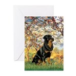 Spring / Rottweiler Greeting Cards (Pk of 10)