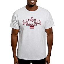 LV Latvija/Latvia Ice Hockey T-Shirt