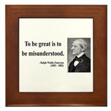 Ralph Waldo Emerson 14 Framed Tile